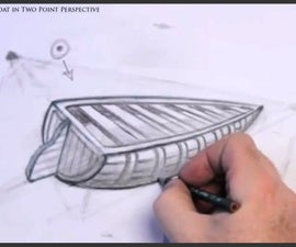 How to Draw a Boat in Two Point Perspective