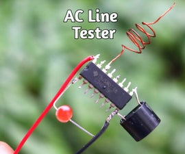 How to Make AC Line Tester Using 4017 IC