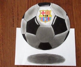 How to Draw a Levitating Soccer Ball