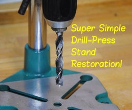 How to Restore a Drill-Press Stand (Aka RIP'ing its Rust)