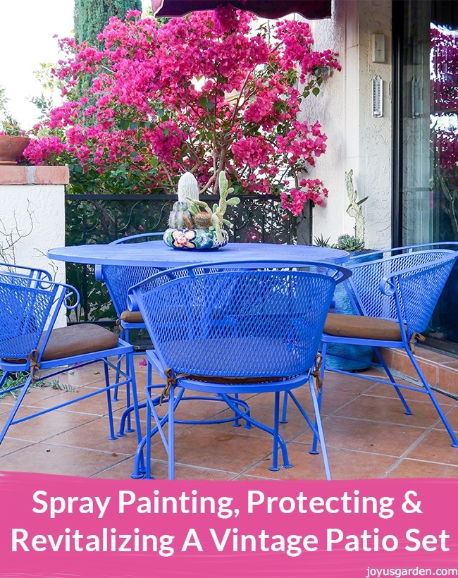 Picture of Spray Painting, Protecting & Revitalizing a Vintage Patio Set