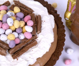 TRIPLE CHOCOLATE COOKIE EASTER CREAM TART WITH CADBURY EASTER EGGS