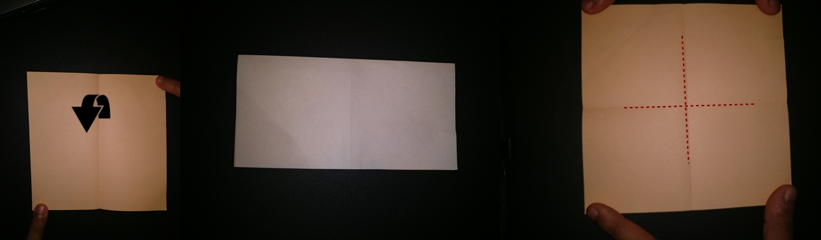 Picture of Unfold. Now Fold the Paper in Half From the Other Side