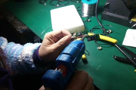 Add the Hot Melt Glue to All Soldering Part