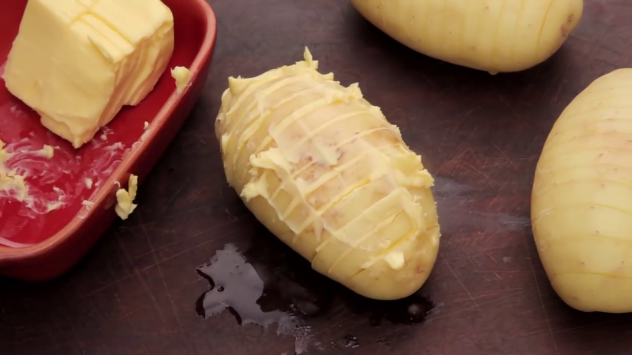 Picture of Next Time Slices of Butter and Push Them Between the Cuts.