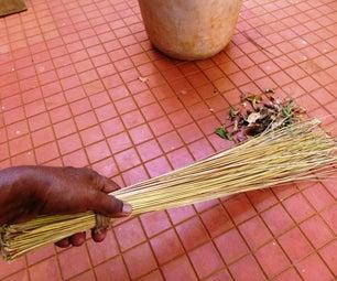 Zero Budget Broom From Coconut Tree Leaves