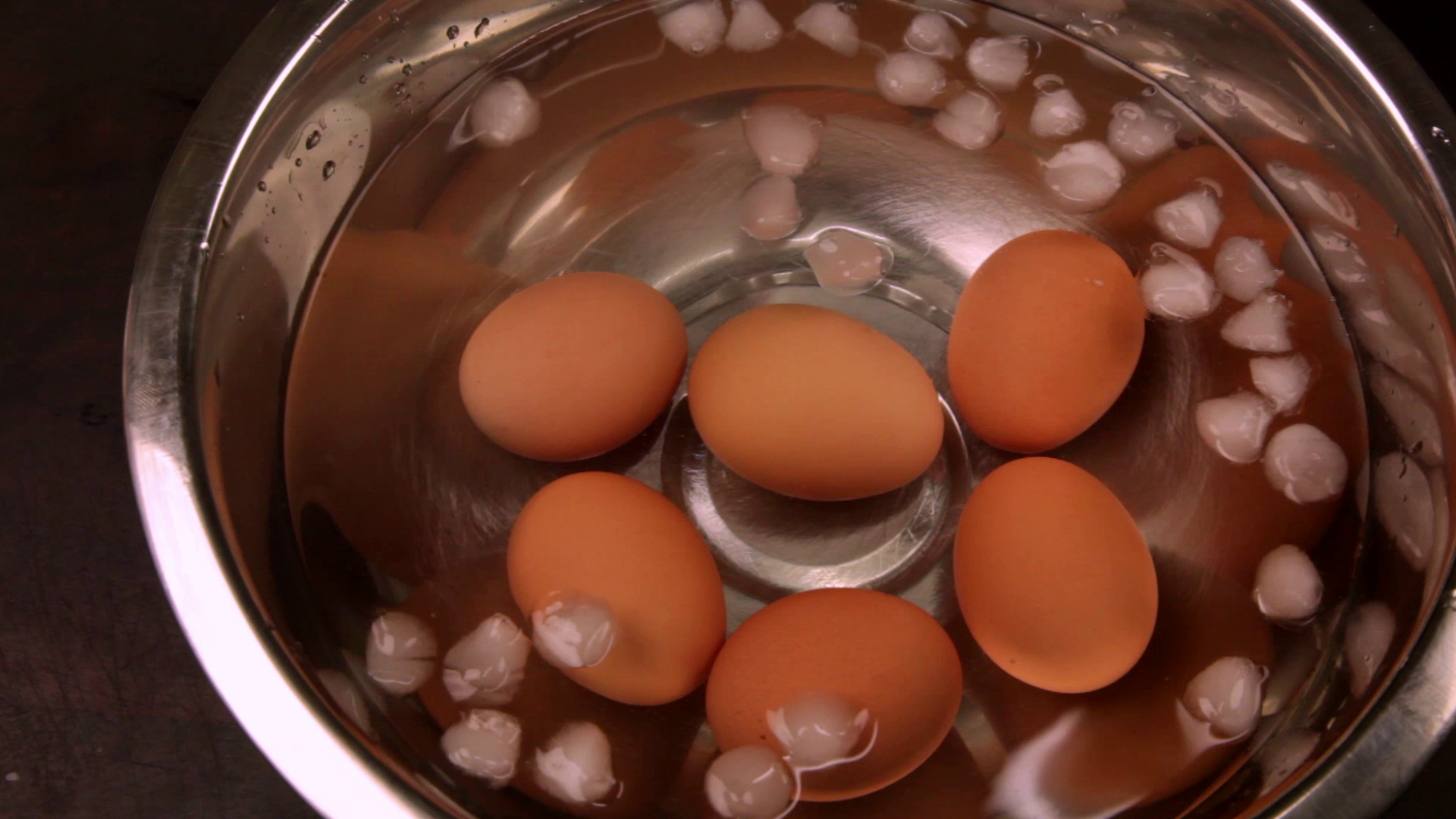 Picture of Drain the Water From the Pot Before Added the Eggs to an Ice Water Bath.