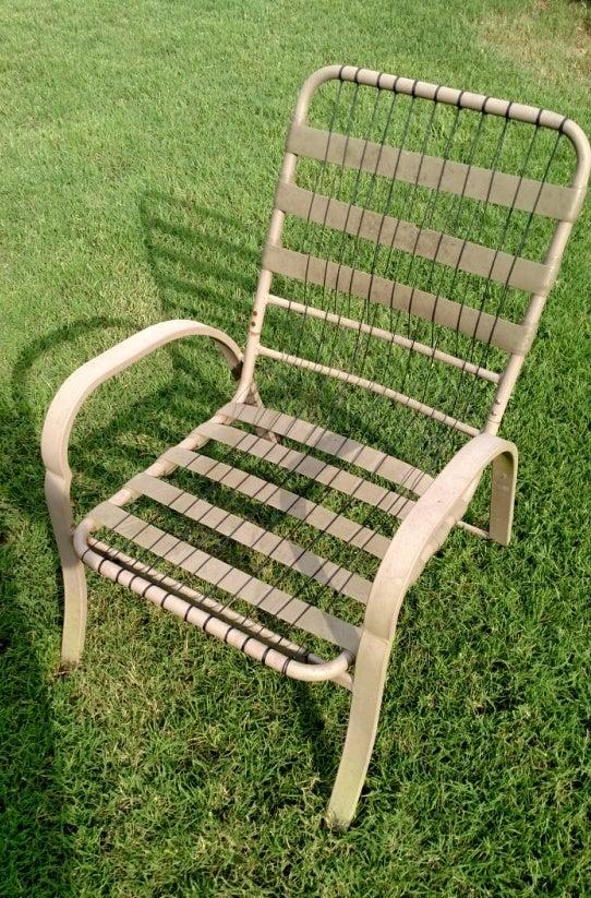 How To Repair Patio Furniture.Paracord Patio Chair Repair 6 Steps