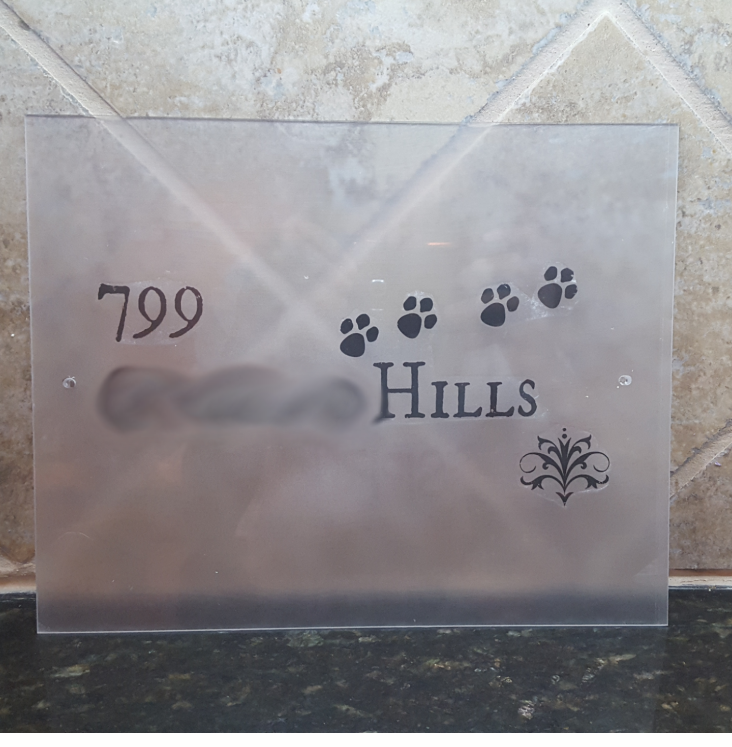 Picture of Printable House/Mailbox Number