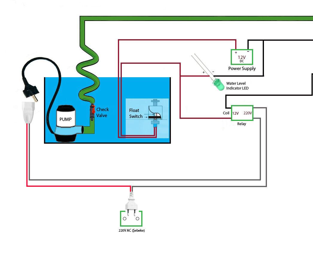 float valve wiring diagram aquarium water auto refill instructables  aquarium water auto refill instructables