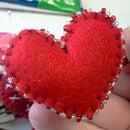 Valentine Heart Hair Clips