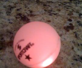 glowing ping pong ball (throwable)