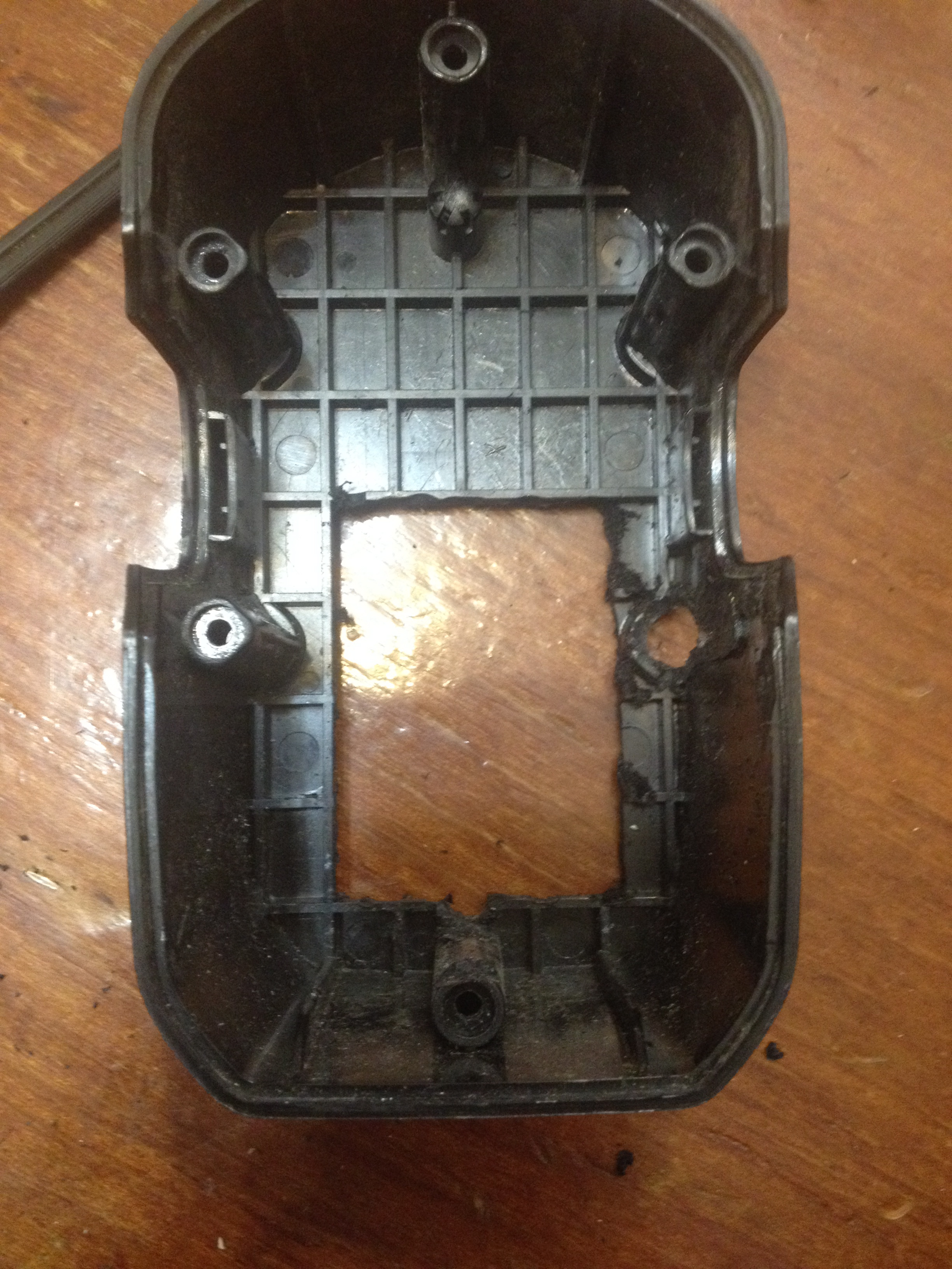 Picture of Cutting Open the Case