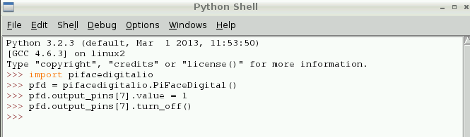 Testing the PiFace With Python