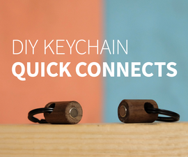 Wood Keychain Quick Connects