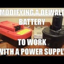 Adapt tool batteries to work with power supply and have a dual system