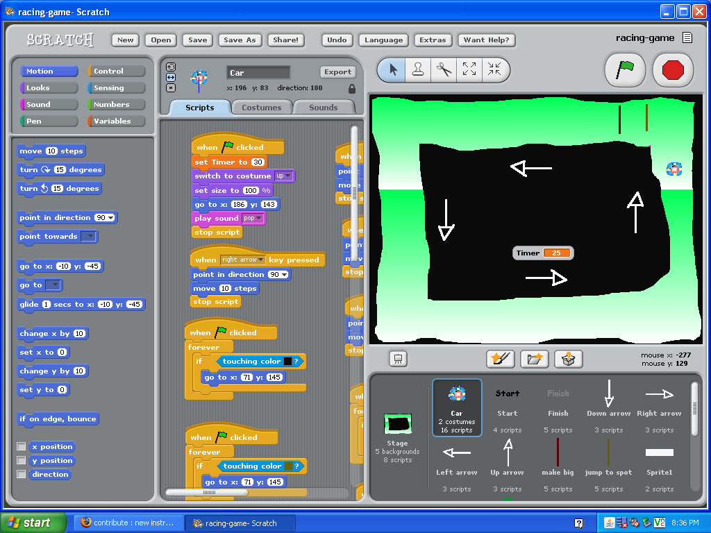 Picture of Making Graphics for a Scratch Racing Game