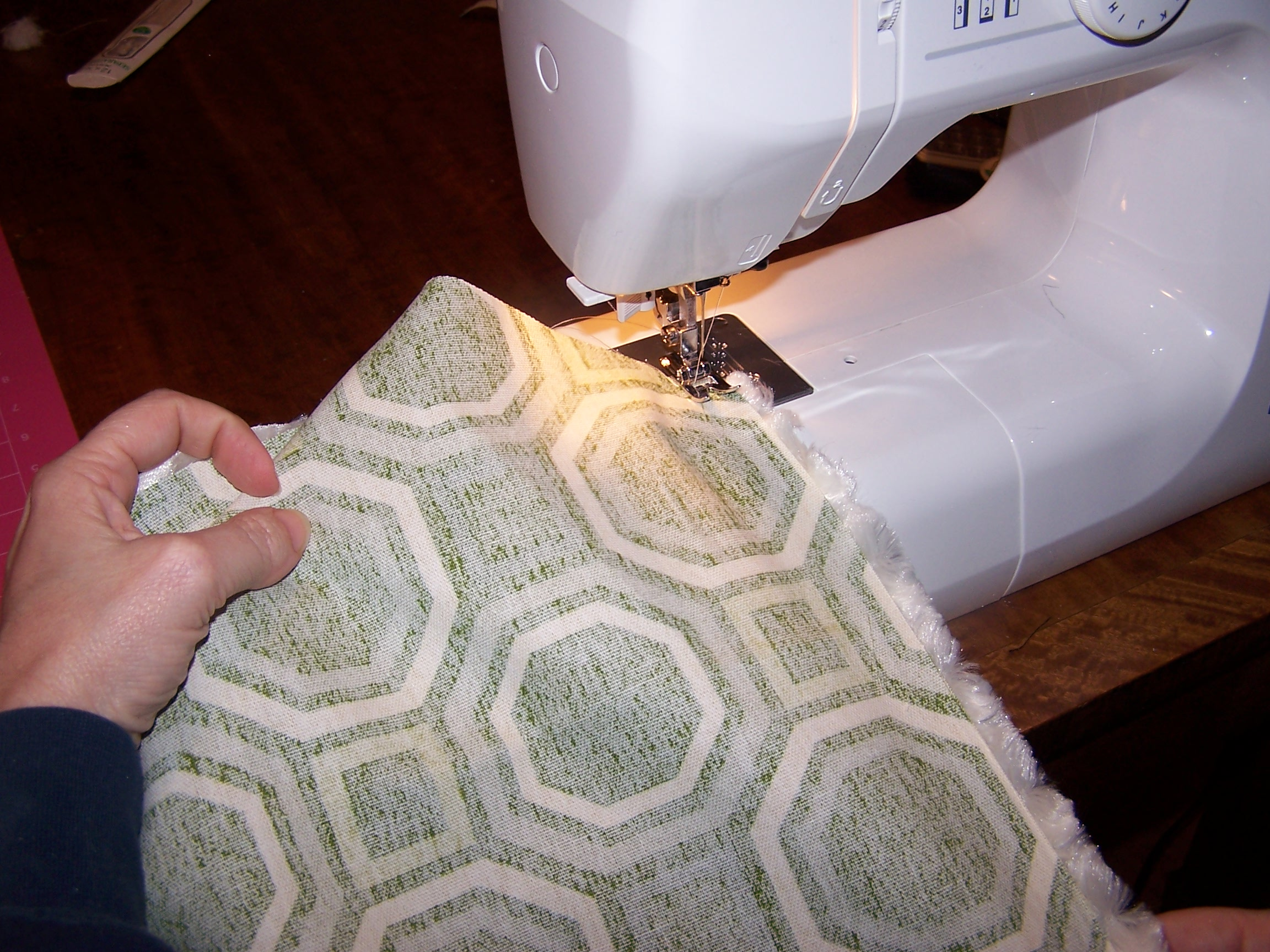 Picture of Sewing Bottom Rail and Curved Seam