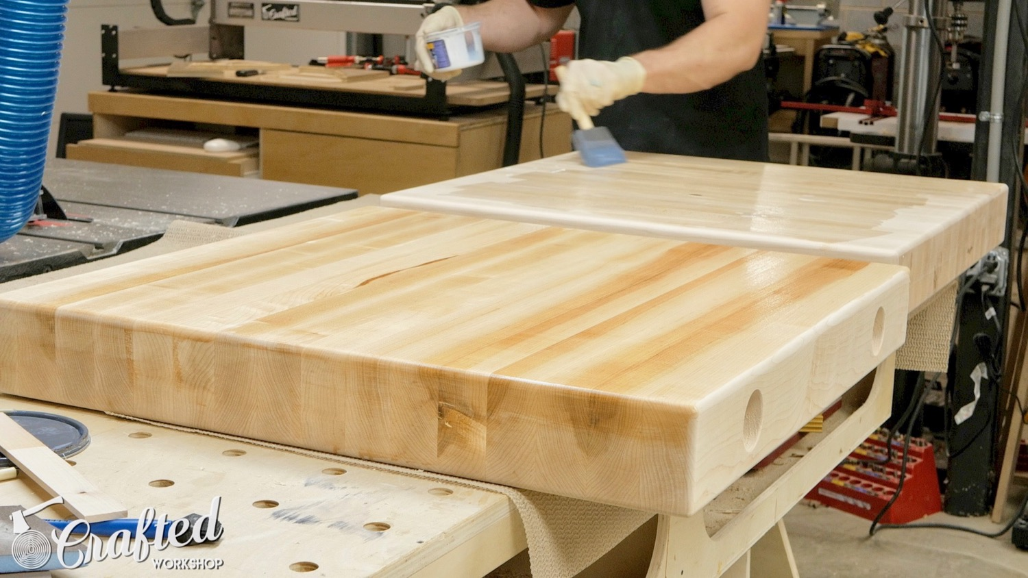 Picture of Apply Finish to the Table Tops