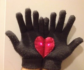 "LED ""Handful of Hearts"" Gloves"