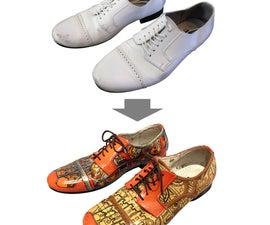 How to paint leather shoes