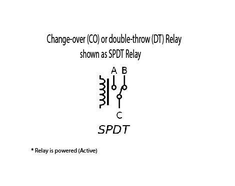 Picture of Change-over (CO) or Double-throw (DT) Relay