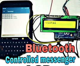 Bluetooth Controlled Messenger LCD    16x2 LCD    Hc05    Simple    Wireless Notice Board