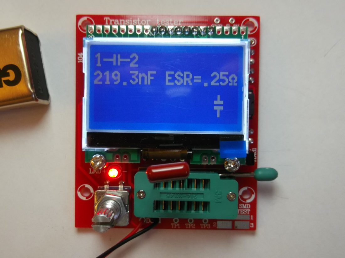 Picture of AVR Transistor Tester