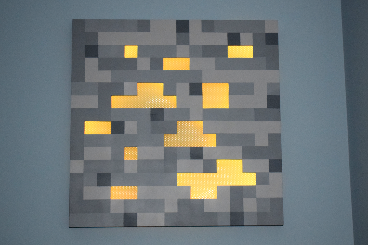 Picture of 2'x2' Glowing Minecraft Ore Night Light
