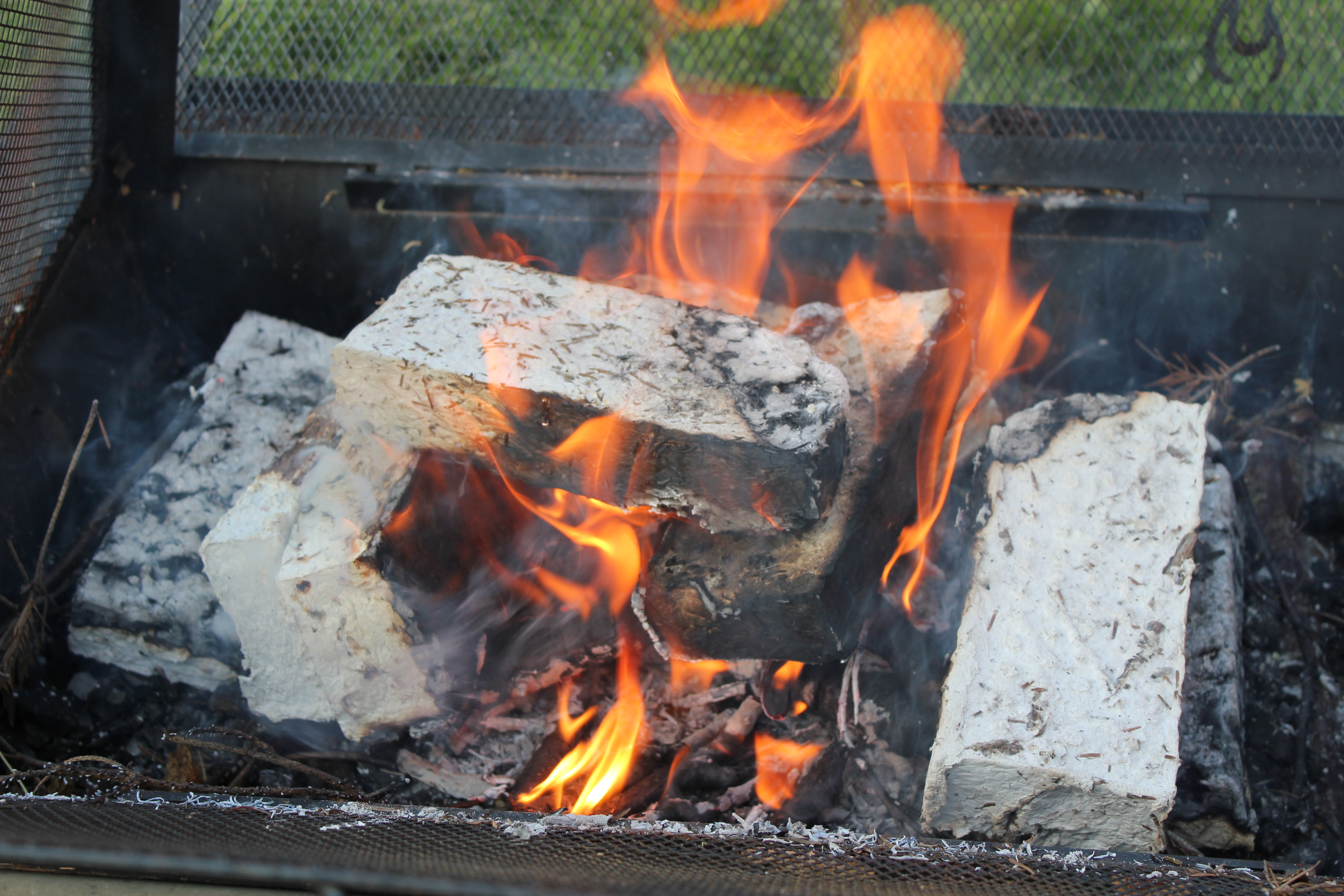 Picture of Fire Briquette Burn Tests