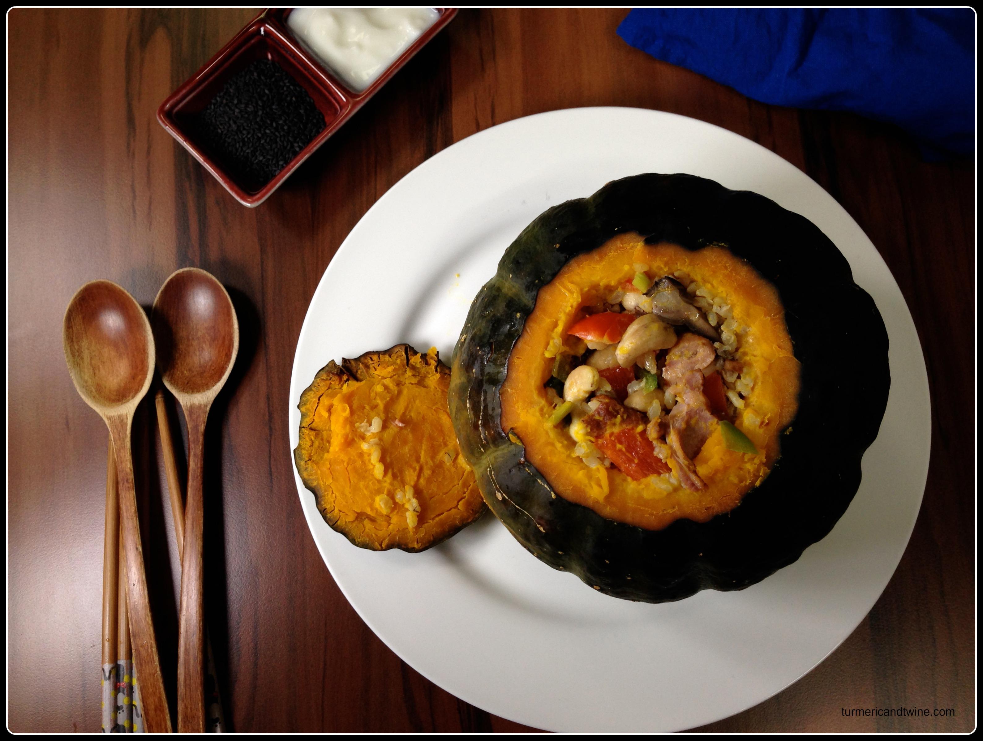 Picture of Smoked Duck Szechuan Pepper Stuffed Pumpkin + Rendered Duck Fat