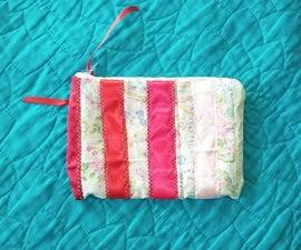 Ombre Ribbon Makeup Bag