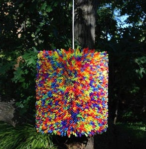 Colorful Straw Lamp