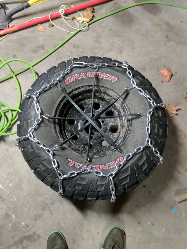 DIY tire chains