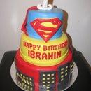 superman cake+ cupcakes