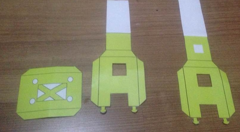Picture of Cut Out the Brackets, Bottom.You Can Trace Them on the Foam or Thick Paper.