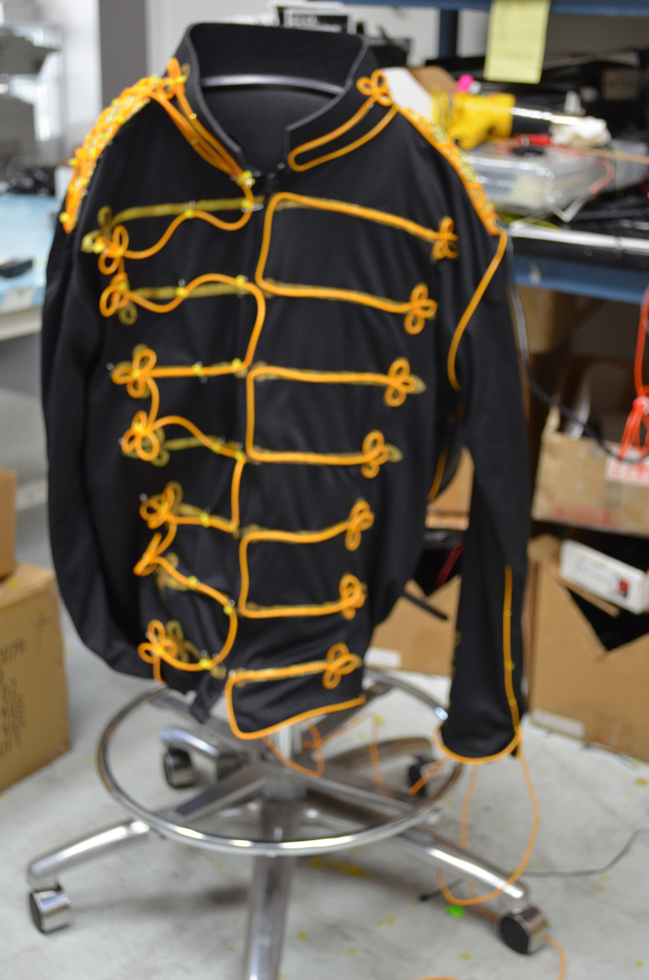 Picture of Attach Wire to the Costume Chest
