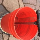 Bucket and Piping repurposed into Bucket With Support Pipe