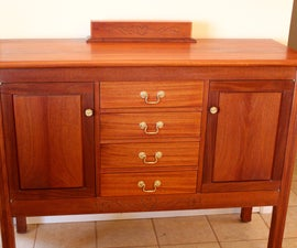 Anniversary cabinet with a wooden combination lock