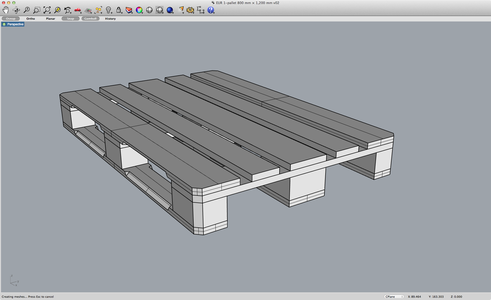 The 3D Model of the Pallet