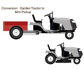Garden Tractor to Pickup Truck