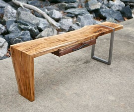 Modern Live Edge Waterfall Coffee Table   How to Build
