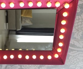 Average Box to Mirror With Lights!