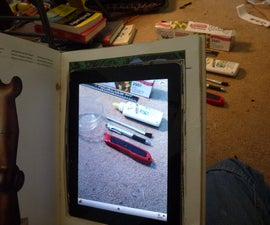 Secret Book Camera: Combine an Ipad and a book to make a hidden spy camera.