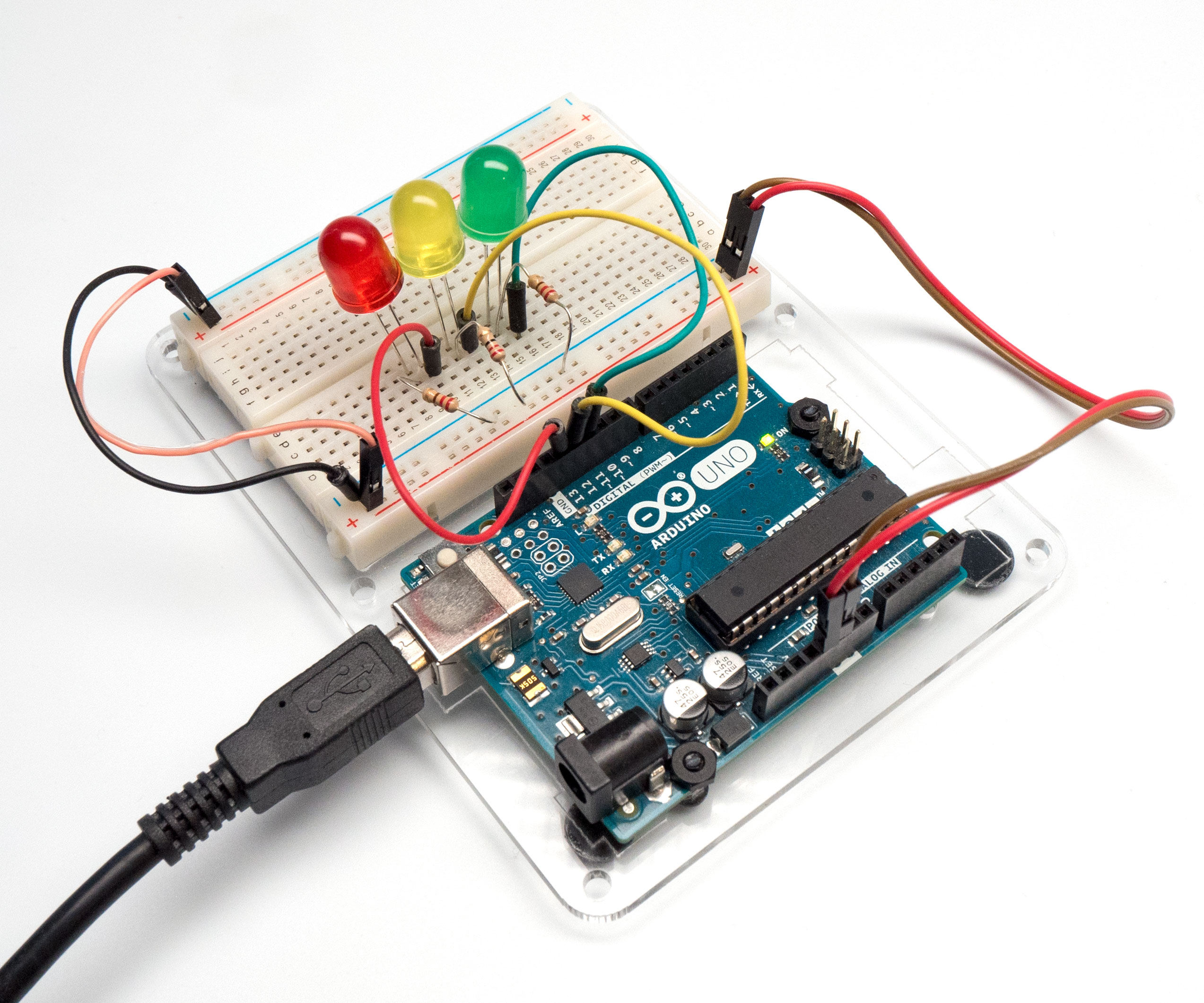 Picture of Build a Physical Arduino Circuit (Optional)