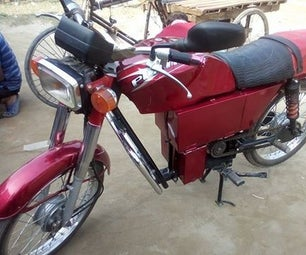 DIY PLATINA HOMEMADE ELECTRIC MOTORBIKE-2