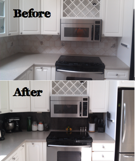 Diy Vinyl Tiled Backsplash 6 Steps