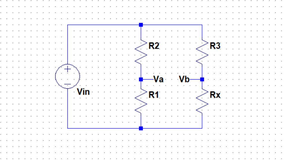 Picture of Wheatstone Bridge Implementation for a Light-Dependent Resistor