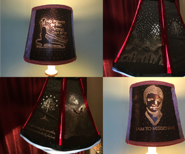 """Personalized """"Geeky"""" Lampshade From Cardboard"""