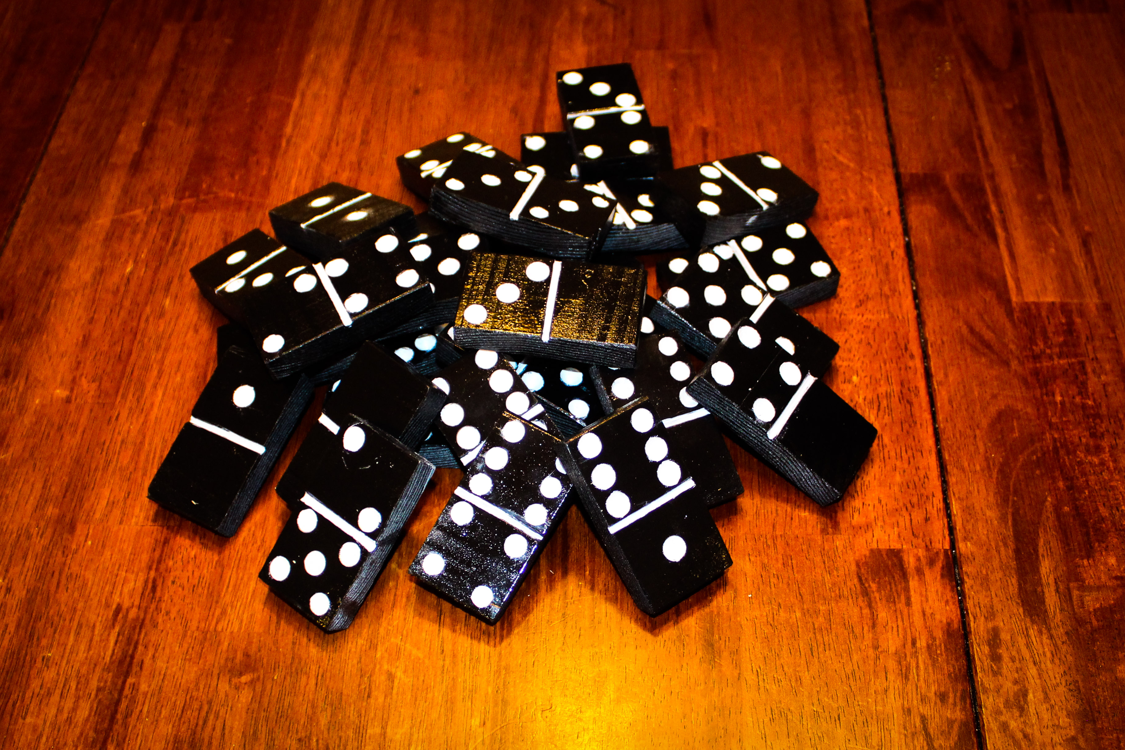Picture of Finished Dominoes - Large Versions
